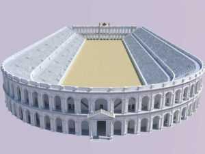 Lo stadio di Domiziano, molto simile al puteolano