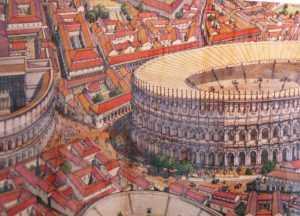 Il Teatro e i due Anfiteatri (J.Golvin)