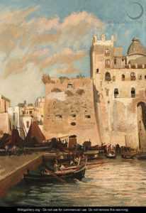 Le fortificazioni in un dipinto ottocentesco