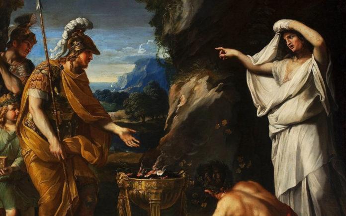 François Perrier - Aeneas and the Cumaean Sibyl (dettaglio)